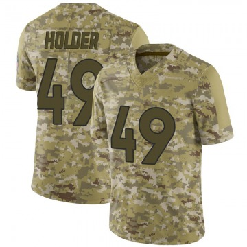 Youth Nike Denver Broncos Alijah Holder Camo 2018 Salute to Service Jersey - Limited