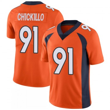 Youth Nike Denver Broncos Anthony Chickillo Orange 100th Vapor Jersey - Limited