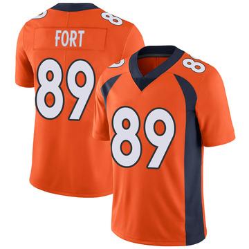Youth Nike Denver Broncos Austin Fort Orange Team Color Vapor Untouchable Jersey - Limited