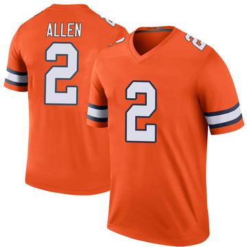 Youth Nike Denver Broncos Brandon Allen Orange Color Rush Jersey - Legend
