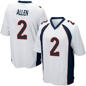 Youth Nike Denver Broncos Brandon Allen White Jersey - Game