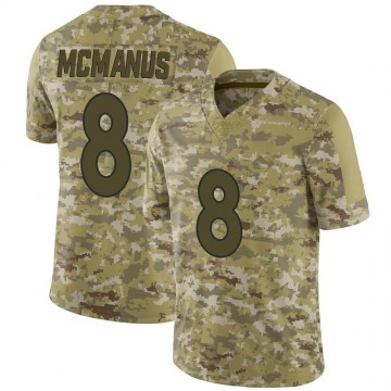 Youth Nike Denver Broncos Brandon McManus Camo 2018 Salute to Service Jersey - Limited
