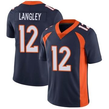 Youth Nike Denver Broncos Brendan Langley Navy Vapor Untouchable Jersey - Limited