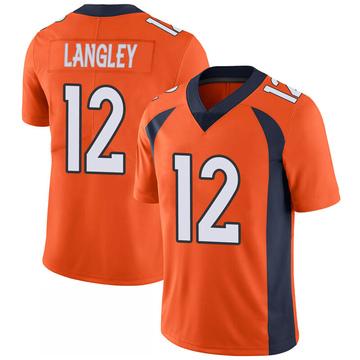 Youth Nike Denver Broncos Brendan Langley Orange 100th Vapor Jersey - Limited
