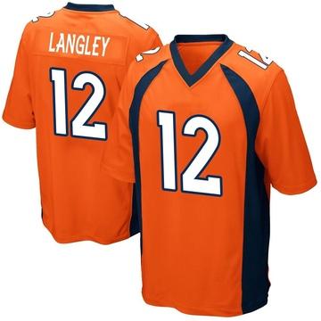 Youth Nike Denver Broncos Brendan Langley Orange Team Color Jersey - Game