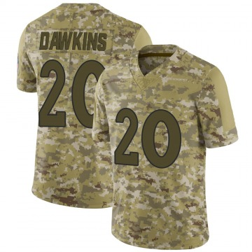Youth Nike Denver Broncos Brian Dawkins Camo 2018 Salute to Service Jersey - Limited