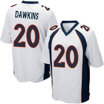 Youth Nike Denver Broncos Brian Dawkins White Jersey - Game