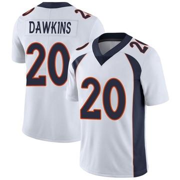 Youth Nike Denver Broncos Brian Dawkins White Vapor Untouchable Jersey - Limited