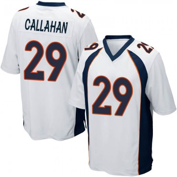 Youth Nike Denver Broncos Bryce Callahan White Jersey - Game