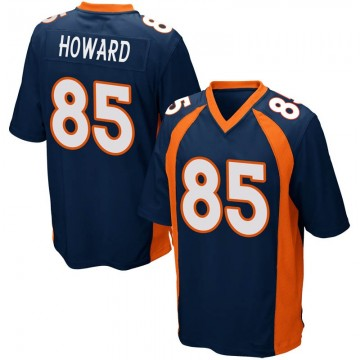 Youth Nike Denver Broncos Bug Howard Navy Blue Alternate Jersey - Game