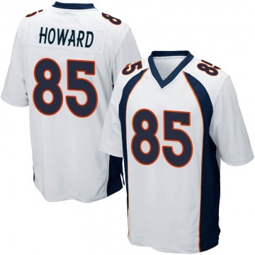 Youth Nike Denver Broncos Bug Howard White Jersey - Game