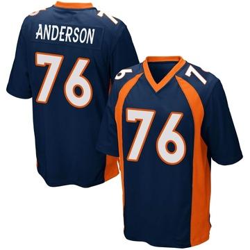 Youth Nike Denver Broncos Calvin Anderson Navy Blue Alternate Jersey - Game