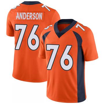 Youth Nike Denver Broncos Calvin Anderson Orange 100th Vapor Jersey - Limited