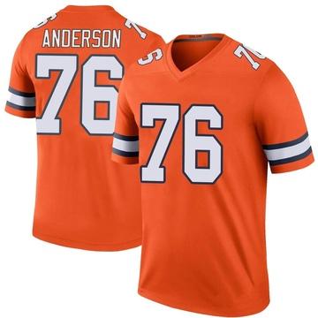Youth Nike Denver Broncos Calvin Anderson Orange Color Rush Jersey - Legend