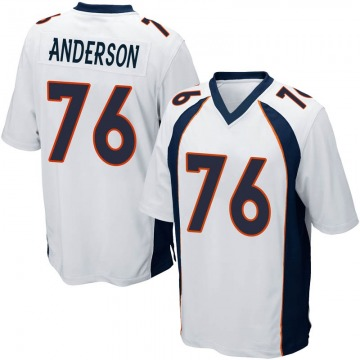 Youth Nike Denver Broncos Calvin Anderson White Jersey - Game