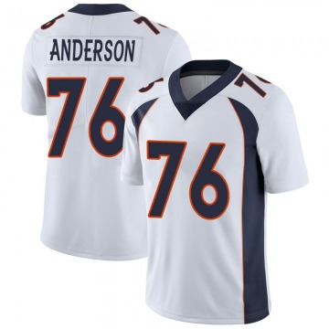 Youth Nike Denver Broncos Calvin Anderson White Vapor Untouchable Jersey - Limited