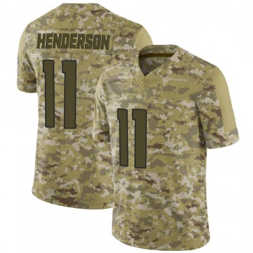 Youth Nike Denver Broncos Carlos Henderson Camo 2018 Salute to Service Jersey - Limited