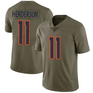Youth Nike Denver Broncos Carlos Henderson Green 2017 Salute to Service Jersey - Limited