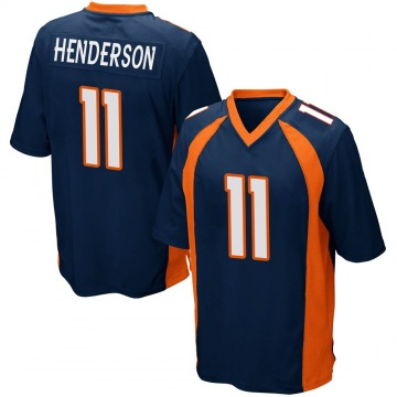 Youth Nike Denver Broncos Carlos Henderson Navy Blue Alternate Jersey - Game