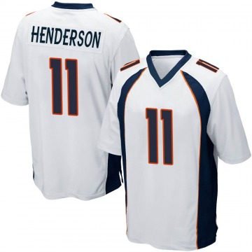 Youth Nike Denver Broncos Carlos Henderson White Jersey - Game