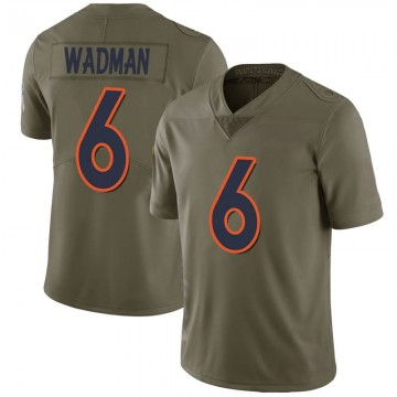 Youth Nike Denver Broncos Colby Wadman Green 2017 Salute to Service Jersey - Limited