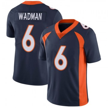 Youth Nike Denver Broncos Colby Wadman Navy Vapor Untouchable Jersey - Limited