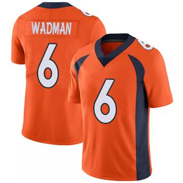 Youth Nike Denver Broncos Colby Wadman Orange 100th Vapor Jersey - Limited