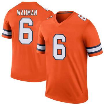Youth Nike Denver Broncos Colby Wadman Orange Color Rush Jersey - Legend