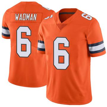 Youth Nike Denver Broncos Colby Wadman Orange Color Rush Vapor Untouchable Jersey - Limited