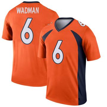 Youth Nike Denver Broncos Colby Wadman Orange Jersey - Legend