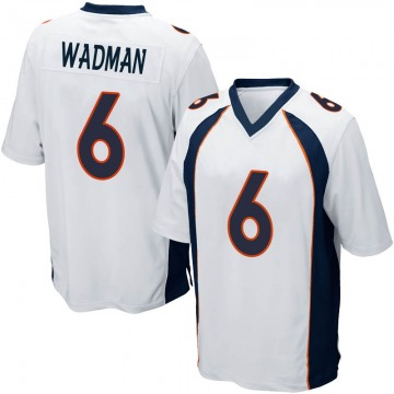 Youth Nike Denver Broncos Colby Wadman White Jersey - Game