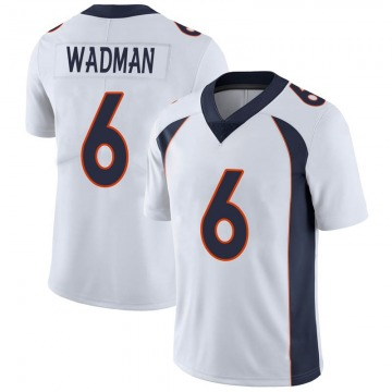 Youth Nike Denver Broncos Colby Wadman White Vapor Untouchable Jersey - Limited