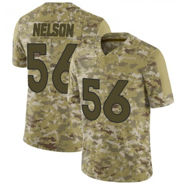 Youth Nike Denver Broncos Corey Nelson Camo 2018 Salute to Service Jersey - Limited