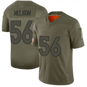 Youth Nike Denver Broncos Corey Nelson Camo 2019 Salute to Service Jersey - Limited