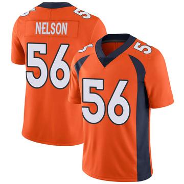 Youth Nike Denver Broncos Corey Nelson Orange Team Color Vapor Untouchable Jersey - Limited