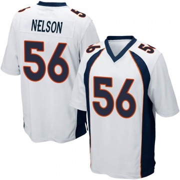 Youth Nike Denver Broncos Corey Nelson White Jersey - Game