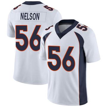 Youth Nike Denver Broncos Corey Nelson White Vapor Untouchable Jersey - Limited