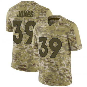 Youth Nike Denver Broncos Cyrus Jones Camo 2018 Salute to Service Jersey - Limited