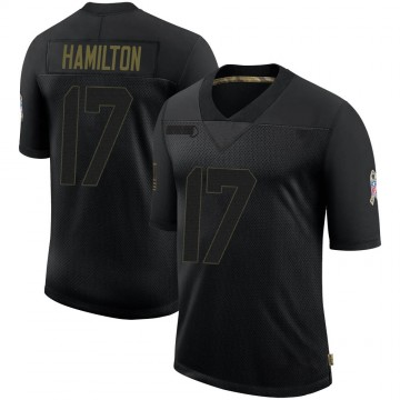 Youth Nike Denver Broncos DaeSean Hamilton Black 2020 Salute To Service Jersey - Limited