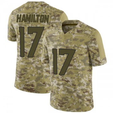Youth Nike Denver Broncos DaeSean Hamilton Camo 2018 Salute to Service Jersey - Limited