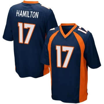 Youth Nike Denver Broncos DaeSean Hamilton Navy Blue Alternate Jersey - Game