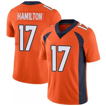 Youth Nike Denver Broncos DaeSean Hamilton Orange 100th Vapor Jersey - Limited