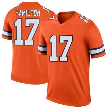 Youth Nike Denver Broncos DaeSean Hamilton Orange Color Rush Jersey - Legend