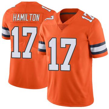Youth Nike Denver Broncos DaeSean Hamilton Orange Color Rush Vapor Untouchable Jersey - Limited