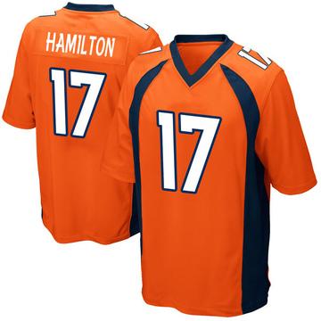 Youth Nike Denver Broncos DaeSean Hamilton Orange Team Color Jersey - Game