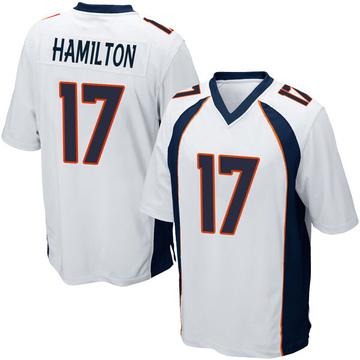 Youth Nike Denver Broncos DaeSean Hamilton White Jersey - Game
