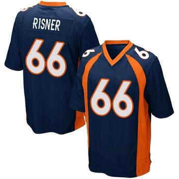 Youth Nike Denver Broncos Dalton Risner Navy Blue Alternate Jersey - Game