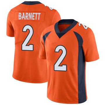 Youth Nike Denver Broncos Dante Barnett Orange Team Color Vapor Untouchable Jersey - Limited