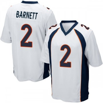 Youth Nike Denver Broncos Dante Barnett White Jersey - Game