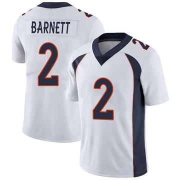 Youth Nike Denver Broncos Dante Barnett White Vapor Untouchable Jersey - Limited
